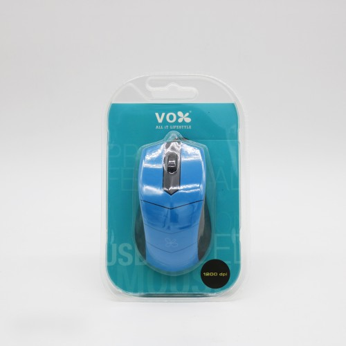 Vox USB Wired Mouse M10 Blue