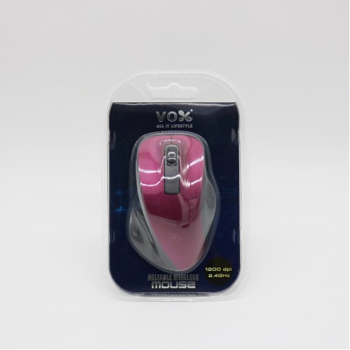 Vox 2.4GHz Wireless Optical Mouse W10 Magenta