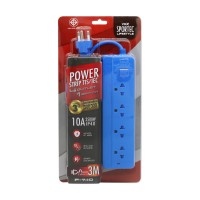 Power Strip 4 Outlet 1 Switch 3M. Blue