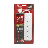 Power Strip 4 Outlet 1 Switch 3M. White