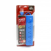 Power Strip 5 Outlet 1 Switch 3M. Blue