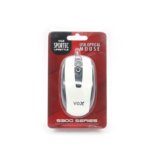 Vox Sportec USB OPTICAL MOUSE S300 White