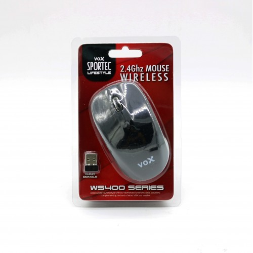 Vox Sportec 2.4 GHz Wireless Optical Mouse WS400 Black